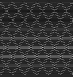 abstract geometric pattern of triangles vector image