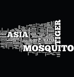 Asian tiger mosquito text background word cloud vector
