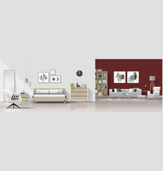 bedroom and living room background vector image