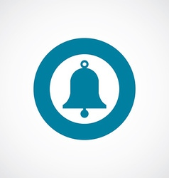 bell icon bold blue circle border vector image