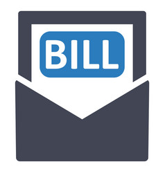 bill payment invoice icon vector image