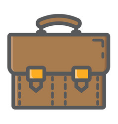 briefcase colorful line icon business portfolio vector image