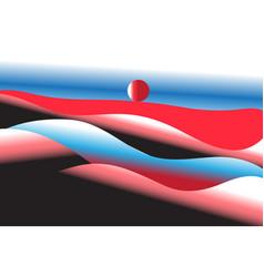 bright unusual hills vector image