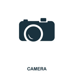 camera icon mobile app printing web site icon vector image