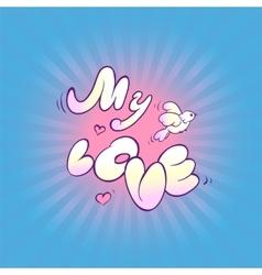 Card recognition in sense inscription my love vector