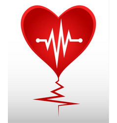 Cardio heart crack vector