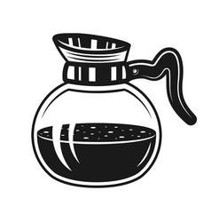 Coffee glass pot monochrome vector