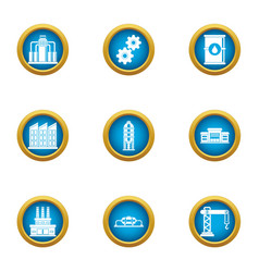 Commercial growth icons set flat style vector