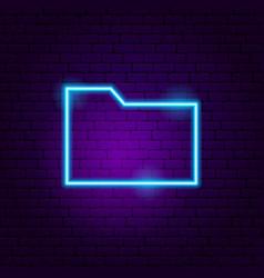 data folder neon sign vector image