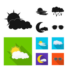 design of weather and climate logo set of vector image