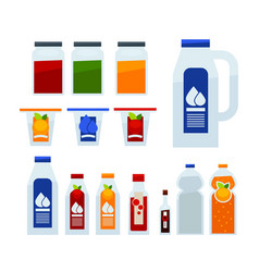 different liquid in bottles vector image