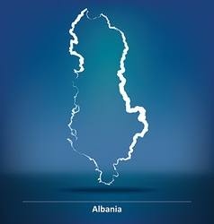 Doodle Map of Albania vector image