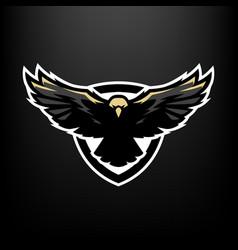 eagle in flight logo symbol vector image