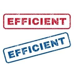 Efficient rubber stamps vector