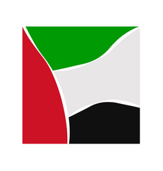 Flag of the united arab emirate vector