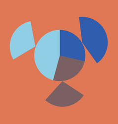 Flat icon on stylish background circular economic vector