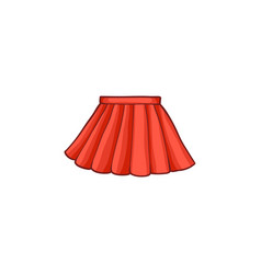 Flat woman summer skirt vector
