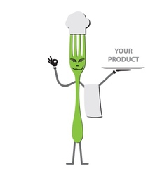 Fork cartoon vector image