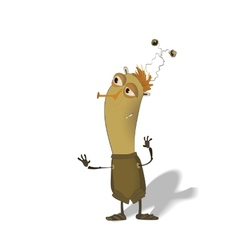 funny thin bug cartoon vector image
