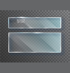 glass transparent banners glass plates vector image
