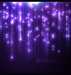 Glowing falling sparkles and stars vector