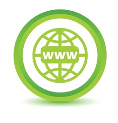 Green Www icon vector