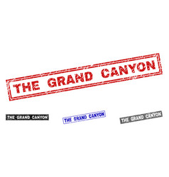 Grunge the grand canyon textured rectangle stamps vector