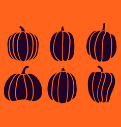 halloween six pumpkin 4 vector image