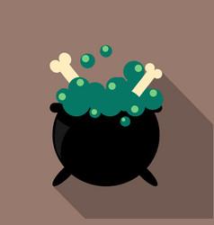 halloween witchs cauldron vector image