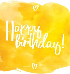 Happy Birthday Script yellow vector