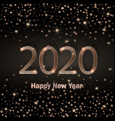 happy new year 2020 luxury greeting card vector image