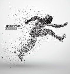 Hurdle people vector