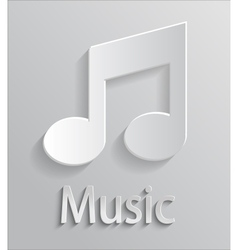 Icon music vector image