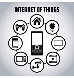 Internet of things icon set design vector image