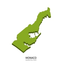 Isometric map of Monaco detailed vector