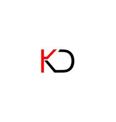 kd letter logo vector image