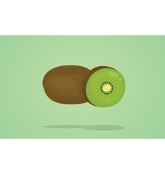 kiwi isolated with flat style vector image