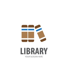 library logo for business company simple library vector image
