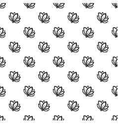 lily flower pattern seamless vector image
