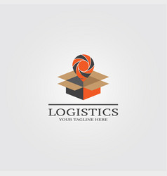 Logistic logo template logo for business vector