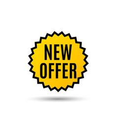New offer special price sign vector