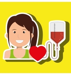 Person blood donor nurse vector