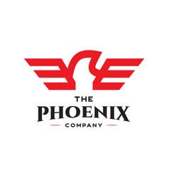 phoenix bird logo vector image