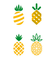 Pineapple icons vector