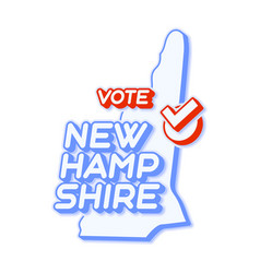 Presidential vote in new hampshire usa 2020 vector