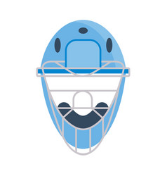 Protective baseball helmet vector
