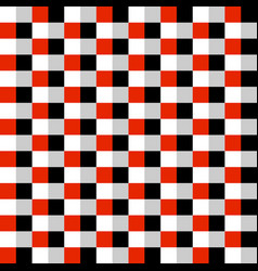 red black and white carbon style squares seamless vector image