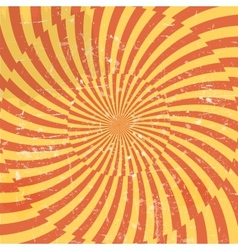Retro style hypnotic background vector