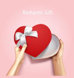 romantic gift box background vector image