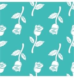 Seamless pattern vintage rose vector image